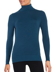 Context Long Sleeve Turtleneck Sweater Plush Teal
