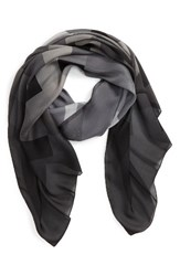 Burberry Women's Ombre Check Silk Scarf Mid Grey