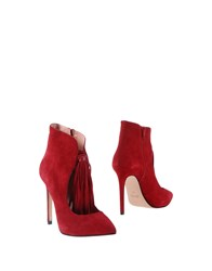 Anna F. Ankle Boots Red