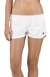 Volcom Women's Simply Solid Board Shorts White