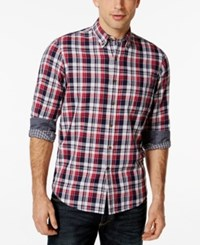 Club Room Big And Tall Long Sleeve Homestead Plaid Shirt Only At Macy's Fire