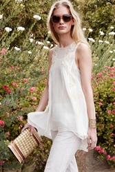 Not So Serious By Pallavi Mohan Beaded Soleil Tunic White