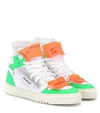 Off White Court 3.0 Leather Sneakers White