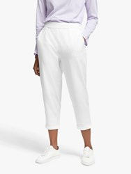 Eileen Fisher Organic Cotton Cropped Trousers White