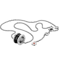 Bulgari Save The Children Black Ceramic And Sterling Silver Pendant Necklace