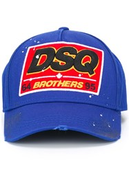 Dsquared2 Brothers Baseball Cap Blue