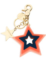 See By Chloa Star Keyring Yellow And Orange