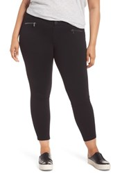 Wit And Wisdom Plus Size Ab Solution Zip Pocket Skinny Pants Black
