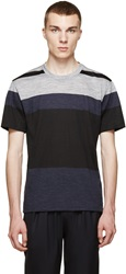 Paul Smith Navy And Grey Colorblock T Shirt