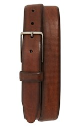 Johnston And Murphy Mini Embossed Leather Belt Brown