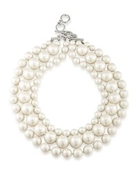 Carolee Beaded Necklace 17 White