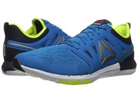 Reebok Zprint 3D Instinct Blue Collegiate Navy Solar Yellow Pewter Men's Running Shoes