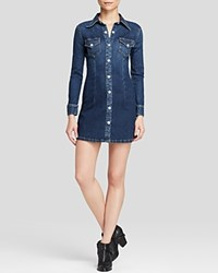Alexa Chung For Ag Shirt Dress Pixie Denim Fitted Lightsome