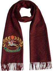 Burberry The Classic Cashmere Scarf With Archive Logo Red