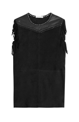 Iro Suede Dress With Leather Fringe And Eyelets