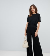 Micha Lounge Knitted Trousers In Soft Rib Co Ord Black
