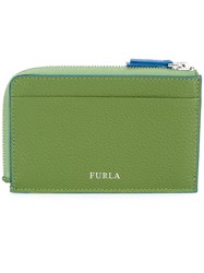 Furla Giove Credit Card Holder Men Calf Leather One Size Green