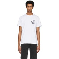 A.P.C. White Rth Edition Peace T Shirt