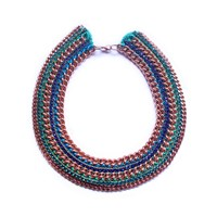 Miss High And Low Capri Necklace Green Blue Rose Gold