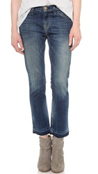 Current Elliott The Cropped Straight Leg Jeans Hartley With Let Out Hem