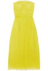 Jason Wu Swiss Dot Tulle Midi Dress Chartreuse