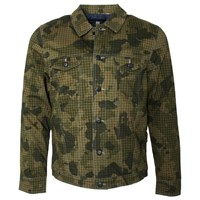Lords Of Harlech Dean Jacket In Olive Camo Green