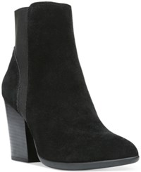 Carlos By Carlos Santana Encore Gore Block Heel Booties Women's Shoes Black