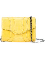 Khirma Eliazov Chain Strap Cross Body Bag Yellow Orange