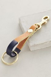 Anthropologie Colorstripe Key Fob Navy
