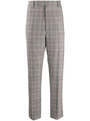 Alexander Mcqueen Checked Trousers Grey