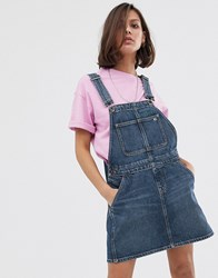 Tommy Jeans Recycled Dungaree Dress Blue