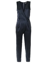 Giuliana Romanno V Neck Jumpsuit Blue