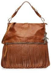 Henry Beguelin Leather Tote With Fringe Gr. One Size