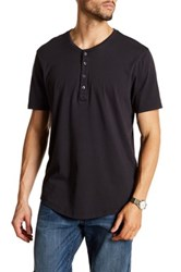 Jeff Long Beach Henley Tee Black