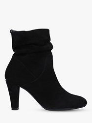 Carvela Comfort Rita Suede Slouch Ankle Boots Black