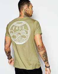 Friend Or Faux Cyclone T Shirt Taupe Brown