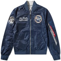 Alpha Industries Ma 1 Moon Landing Reversible Jacket Blue