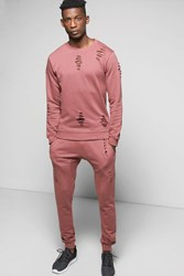 Boohoo Fit Sweat Tracksuit Pink