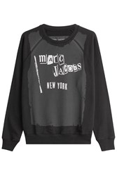 Marc Jacobs Printed Cotton Sweatshirt Black