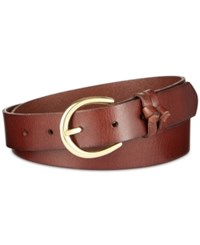 Inc International Concepts Double Knot Keeper Leather Belt Only At Macy's Cognac