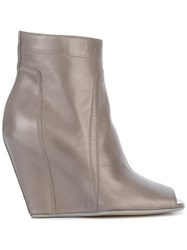 Rick Owens Open Toe Ankle Boots Grey