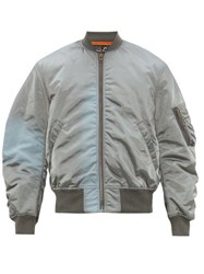 Martine Rose Gradient Ma 1 Bomber Jacket Grey