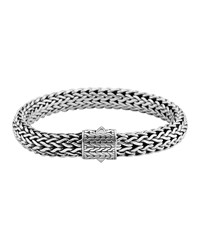John Hardy Small Classic Chain Bracelet With Chain Clasp Silver