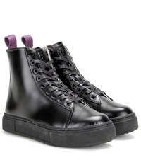Eytys Kibo Leather High Top Sneakers Black