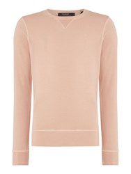 Scotch And Soda Men's Classic Garment Dyed Sweat Pink