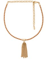 Ettika Braided Choker Metallic Gold