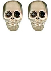 Givenchy Double Sided Skull Earrings Colorless