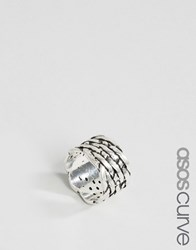 Asos Curve Woven Ring Burnished Silver