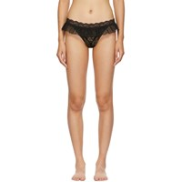 Aubade Black Open Up String Thong