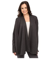 Ugg Meadow Draped Shoulder Shawl Black Bear Heather Women's Long Sleeve Pullover Gray